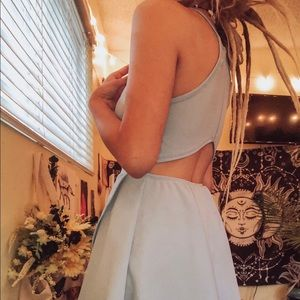 light blue prom dress//